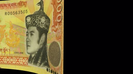 bhutan : Bhutan banknote Wiper- Video Effect simulates Bhutan Money banknote Transition from left to right with alpha channel