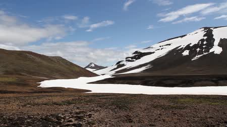 northern nature : Steady shot of Iceland Snowy Mountain Landscape