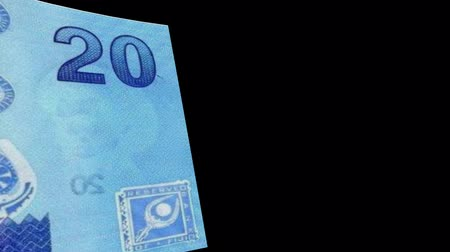 Finland banknote Wiper Video Effect simulates Finland Money banknote Transition from left to right with alpha channel