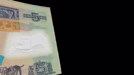 Guatemala banknote Wiper Video Effect simulates Guatemala Money banknote Transition from left to right with alpha channel Stok Video