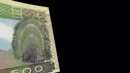 Guinea banknote Wiper Video Effect simulates Guinea Money banknote Transition from left to right with alpha channel