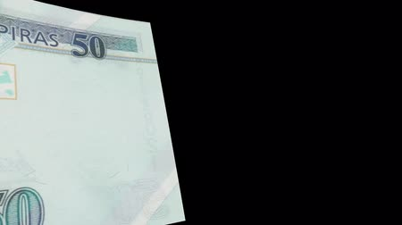 Honduras banknote Wiper Video Effect simulates Honduras Money banknote Transition from left to right with alpha channel