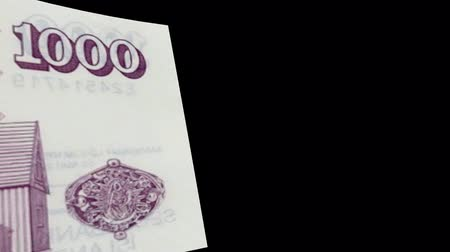 Iceland banknote Wiper Video Effect simulates Iceland Money banknote Transition from left to right with alpha channel