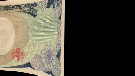 Japan banknote Wiper Video Effect simulates Japan yen Money banknote Transition from left to right with alpha channel