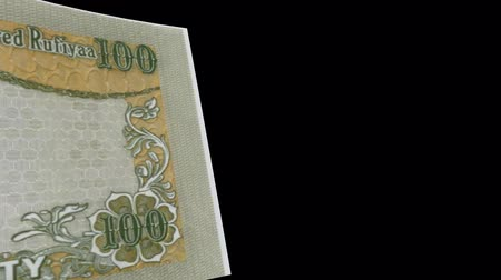 Maldives Islands banknote Wiper Video Effect simulates Maldives Islands Money banknote Transition from left to right with alpha channel Stock Footage