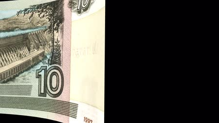 stiff : Russia banknote Wiper Video Effect simulates Russia Money banknote Transition from left to right with alpha channel