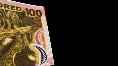 stiff : New Zealand banknote Wiper Video Effect simulates New Zealand Money banknote Transition from left to right with alpha channel