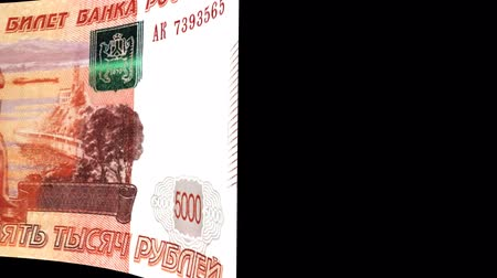 pile of money : Russia banknote Wiper Video Effect simulates Russia Money banknote Transition from left to right with alpha channel