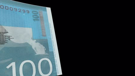 sérvia : Serbia banknote Wiper Video Effect simulates Serbia Money banknote Transition from left to right with alpha channel