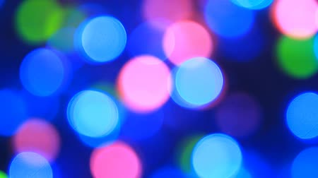 Luces coloridas bokeh Archivo de Video