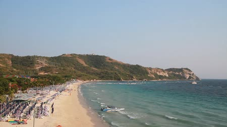 Playa de isla en Tailandia Archivo de Video