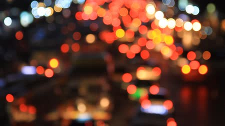 Bokeh from car light on the traffic road
