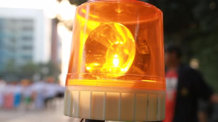 syrena : Emergency light or Flashing beacon. Orange flashing and revolving light