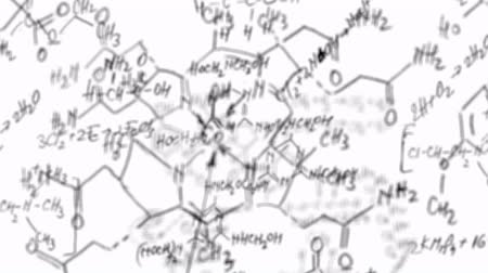 chemistry : Chemistry equation loop with alpha channel Stock Footage
