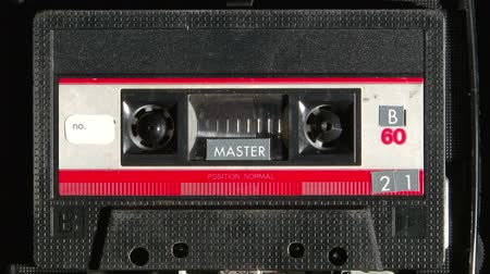 cassette : Audio cassette playing Stock Footage