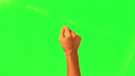 kezek :  Touchscreen gestures - male hand - green screen and alpha matte