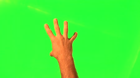 жест :  Touchscreen gestures - male hand - green screen and alpha matte