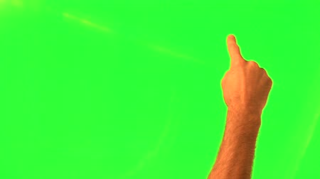 dedo :  Touchscreen gestures - male hand - green screen and alpha matte