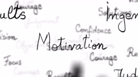motivasyonel : Seamless loop of motivational words with alpha matte - 4K