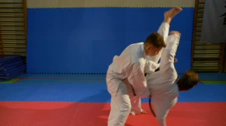 каратэ : Attack and self defense techniques practicing during karate training