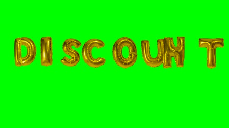 florete : Word discount from helium gold balloon letters floating on green screen