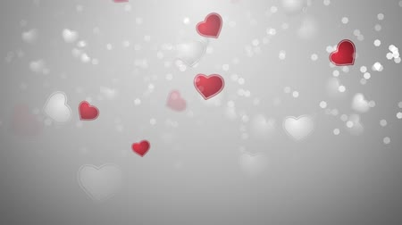 namoro : hearts background Stock Footage