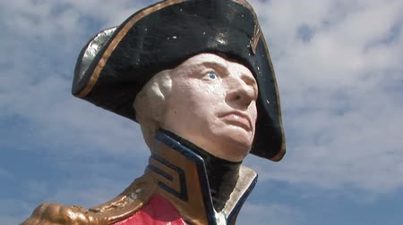 figurehead : Statue of Admiral Nelson in Portsmouth, UK