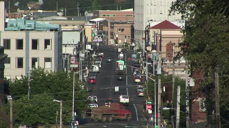 asfalt : City traffic street overview Astoria, Oregon
