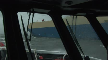 motor vehicle : Pilot boat navigating side to side with cargo ship on the Columbia River, OR
