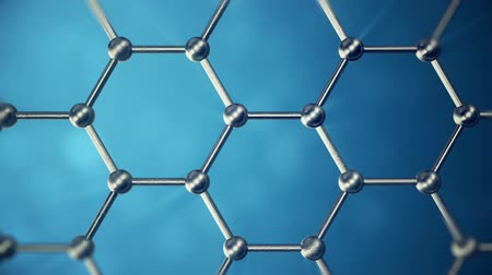 grafit : Graphene atom nanostructure loopable animation. Nanotube in form of honeycomb. Concept Nanotechnology and sciences