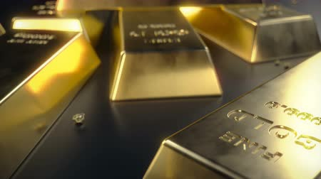 kilogramm : Fine Gold bars 1000 grams on the floor with scattered pieces of gold. Concept of wealth