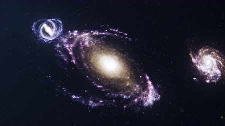 andromeda : Spiral galaxy in deep space. Deep space exploration. Concept space travel. Space background. 3D animation
