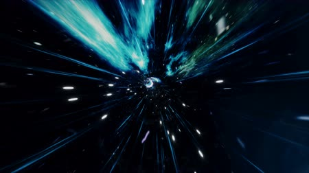 megtöltött : Seamless travel through a wormhole through time and space filled with millions of stars and nebulae. Wormhole space deformation, science fiction. Black hole. Vortex hyperspace tunnel. 4k animation