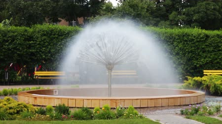 szökőkút : Beautiful Fountain spherical circular shape from which the water flows, and its resembles the shape of a daisy or a dandelion flower.
