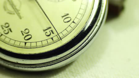 black : Vintage dial stopwatch. Stock Footage