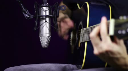 playing band : Playing Acoustic Guitar in Studio
