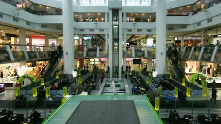 schody : Shopping Mall Timelapse Escalator People Wideo