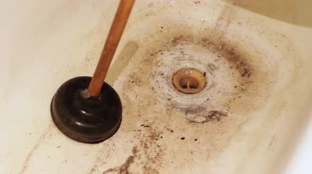 unclog : Clogged Drain Water in the Bathroom, Dirty Water and Sewerage