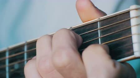 playing band : Man Playing Acoustic Guitar Stock Footage