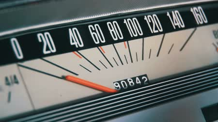 rpm : Retro car speedometer. Stock Footage