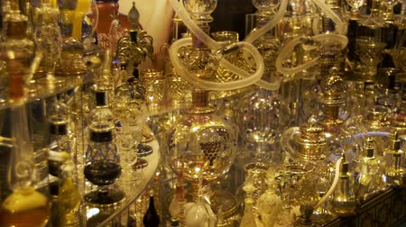 volatile : Aromatic Oil and Perfume in Arabic Shop. Sharm El Sheikh, Egypt Stock Footage