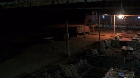 hill tribe : Bedouin Settlements in the Egyptian Desert at Night