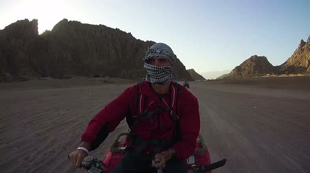 quadbike : Driving ATVs in the Desert of Egypt