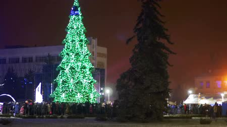 templombúcsú : New Year tree in the city square