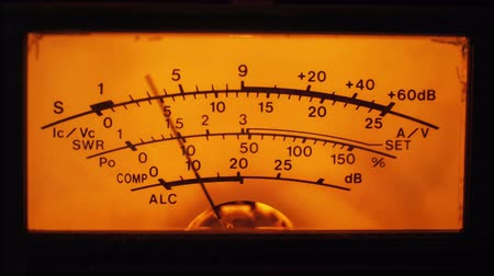 mínimo : Dial Indicator Gauge Of The Transceiver and Signal Level Meter