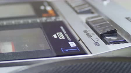 casette : Audio Cassette Playing Stock Footage