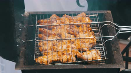 preparing : Grilled chicken on the grill