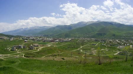 genocide : Landscape View of the City in the Mountains of Armenia. Time Lapse Stock Footage