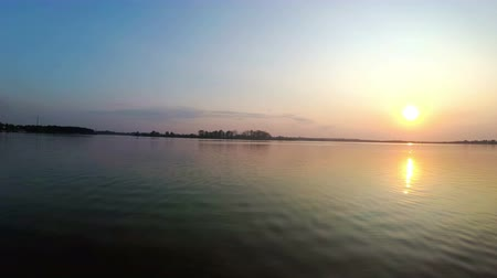 astrakhan : Sunset on the river bank