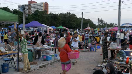 domingo : Flea market in Asia. People walk around the market of second-hand goods. Thailand. Pattaya